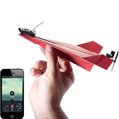 POWERUP 3.0 Original Smartphone Controlled Paper Airplanes Conversion Kit - Durable Remote Controlled RC Airplane for Beginners, Works with Most Paper Airplane Books ()