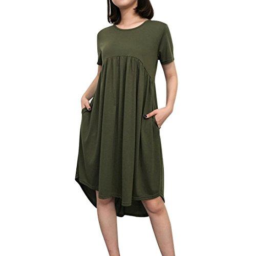 Kleid kurzarm grun