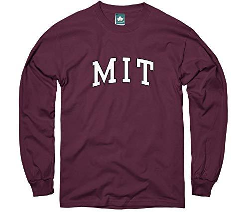Ivysport MIT University Long-Sleeve T-Shirt, Classic, Maroon, Small