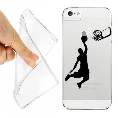CUSTODIA COVER CASE CANESTRO BASKET PER IPHONE 5 5S TRASPARENTE