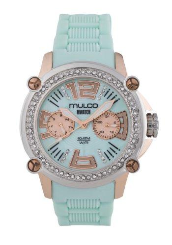 MULCO Women's MW2-28086S-099 Analog Display Swiss Quartz Blue Watch