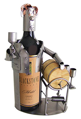H & K Sculptures Male Wine Taster Wine Bottle Holder/Wine Caddy, , (Sculpture Wine Bottle)