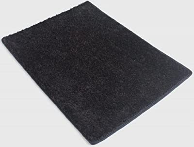 "Blackest Black 25.5 oz 1/2"" Thick Plush Cut Pile Indoor Carpet Area Rug"