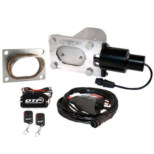 QTP QTEC33K2 Oval Low Profile Electric Exhaust Cutout Kit With SS Tip Remotes by QUICK TIME PERFORMANCE