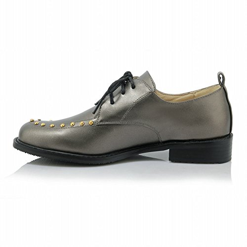 1788bcdf010 free shipping Latasa Womens Studded Lace Up Chunky Heels Oxford Shoes