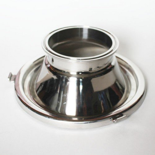 Moonshine Distiller Domed Stainless Steel Milk Can Lid with 4 Inch Tri-Clover Fitting