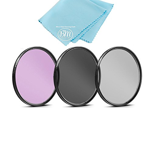 58mm Multi-Coated 3 Piece Filter Kit (UV-CPL-FLD) for Canon Rebel T5, T6, T6i, T7i, EOS 80D, EOS 77D Cameras with Canon EF-S 18-55mm f/3.5-5.6 IS II, IS STM Lens