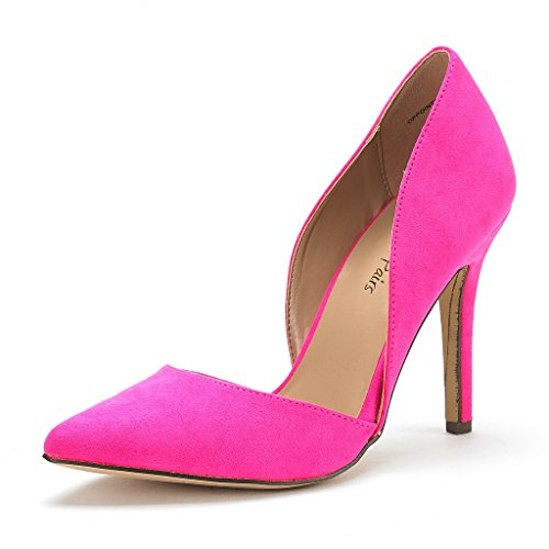 DREAM+PAIRS+OPPOINTED+Women%27s+D%27Orsay+Style+Pointy+Pumps+Classic+Stiletto+Heel+Shoes+New+FUCHSIA+SIZE+7