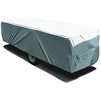 Image of RV & Trailer Covers ADCO 22894 Pop Up Trailer Tyvek & Polypropylene Cover - 14'1' to 16', Gray