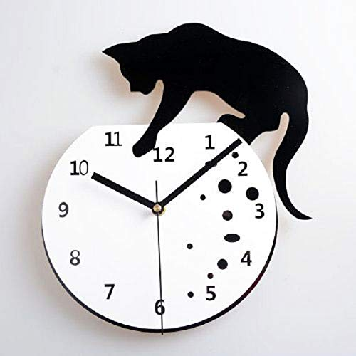 KAWEAZ Creative Personality Mute Wall Clock Cat Wandklok Wanduhr Kitchen Home Decor Relojes Pared Relojes De