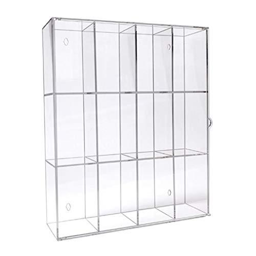 koolsoo 3-Compartments Acrylic Display Case Dolls