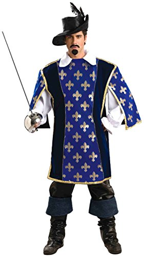 Forum Novelties Men's Designer Collection Musketeer Costume, Multi, Halloween Cosplay