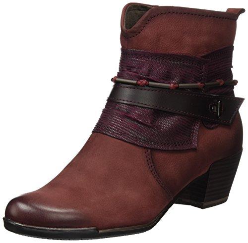 Tamaris WoMen 25349 Ankle Boots, Cigar Comb, 3 UK Red (Bordeaux Comb 550)