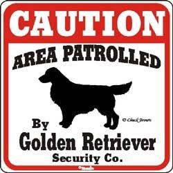 Golden Retriever Caution Dog Sign