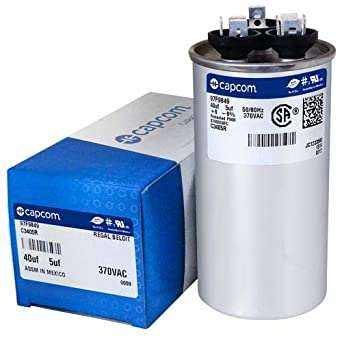 GE Genteq 97F9882 replacement Dual Capacitor 40//7.5 MFD 370 440V for Carrier