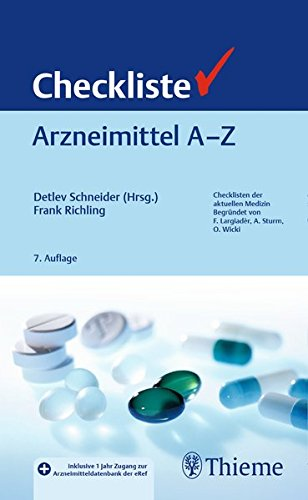Checkliste Arzneimittel A   Z  Checklisten Medizin