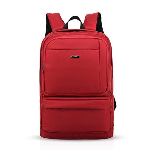 FANDARE Mochila para Ordenador 15.6 Pulgadas Portátil Morral al Aire Libre Viaje Escuela Las mujeres Mochila Bolso Hombre Poliéster Rojo Rojo