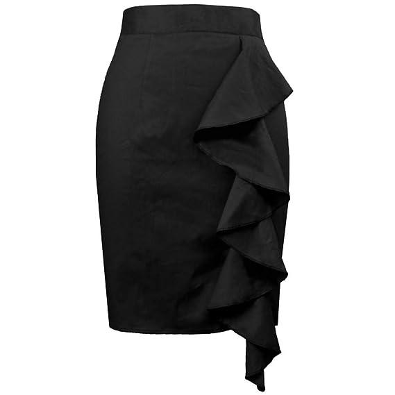 ZHJA Moda para Mujer Bolso Sexy Caderas Falda De Algodón con ...