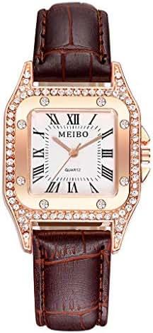 Ultramall BC114 Women's Casual Quartz Leather Band Newv Strap Watch Analog Wrist Watch
