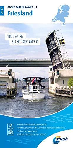 Waterkaart 01 Friesland 1:50 000: Wasserkarte (ANWB waterkaart (1))