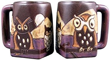 One (1) MARA STONEWARE COLLECTION - 12 Oz Coffee Cup Collectible Square Bottom Dinner Mugs - Night (Mara 12 Oz Square Bottom)