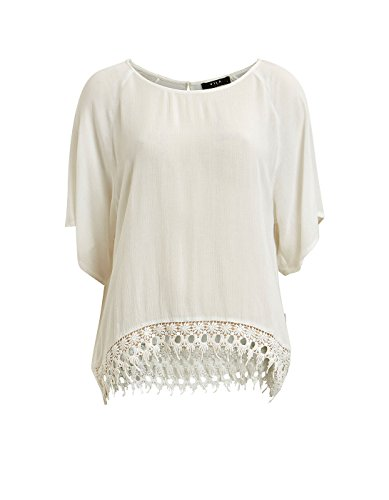 White blouse crochet by Vila Clothes (XS - White)