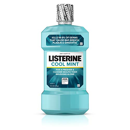 Listerine Cool Mint Antiseptic Mouthwash for Bad Breath, Plaque and Gingivitis, 1 l (Best Mouthwash For Gingivitis And Bad Breath)