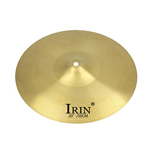 Homyl Brass Alloy Drum Set Crash Hi-Hat Cymbals for Drum Player Percussion Instrument Parts - 20inch - 20' Ride Cymbal