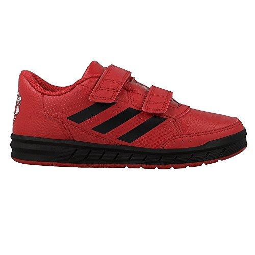 adidas Unisex-Kinder Altasport Mufc Cf K Hallenschuhe, Rot (Rojrea/Neguti/Ftwbla), 28 EU