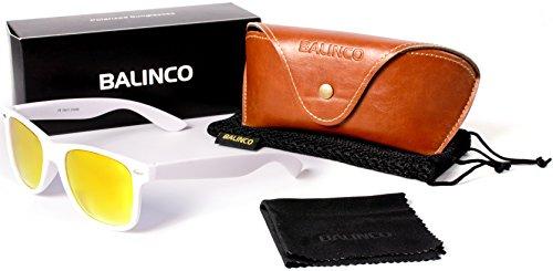 Charnière Balinco Vintage Modèles de Unisexe Gomme ressort à jaune soleil Lunettes Set 24 polarisé haute avec Rétro qualité Blanc Nerd Miroir dans Lunettes TrwPTFO