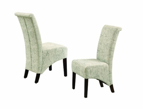 Monarch 2-Piece Vintage French Fabric Parson Chair, 40-Inch (Lift Chair Specialty Line)