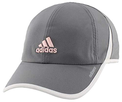 adidas Womens Adizero II Cap, Grey/White/Hawthorne Pink, ONE SIZE
