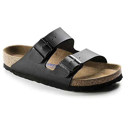 Birkenstock Unisex Arizona Black Birko-flor Sandals - 13-13.5 B(M) US Men