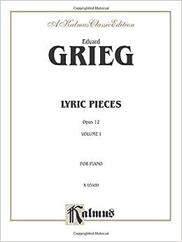 Book Lyric Pieces, Op. 12 (Kalmus Edition)