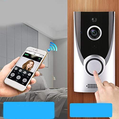 Oguine Wireless Smart 1080P HD Security WiFi Camera Video Doorbell Door Viewers (Silver)