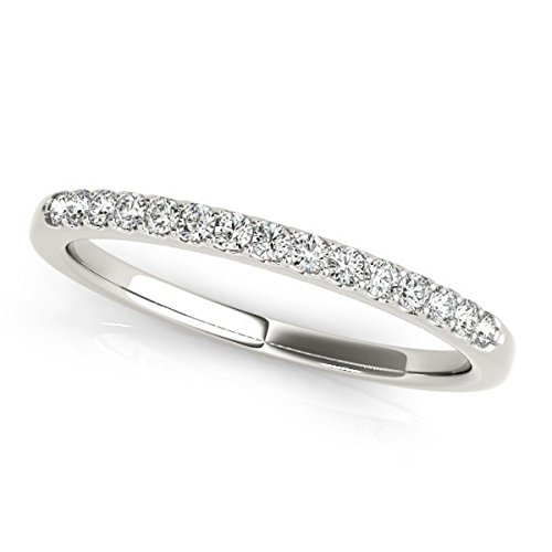 Round Diamond Wedding Band Palladium (0.23ct) Diamond Palladium Wedding Band