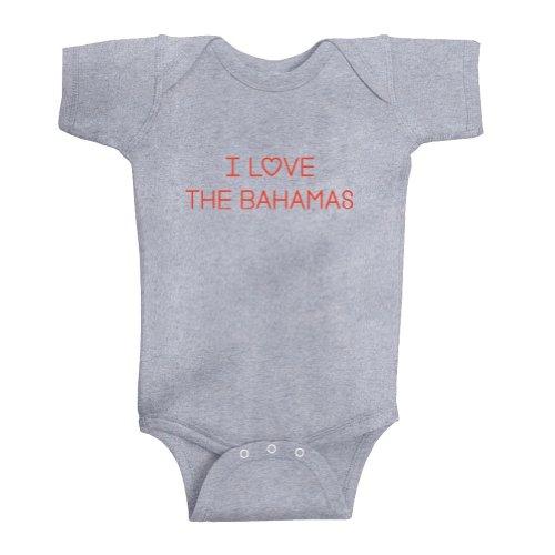 Bahama Heather (Mashed Clothing Unisex Baby I Love The Bahamas Bodysuit (Heather Grey, 18 Months))