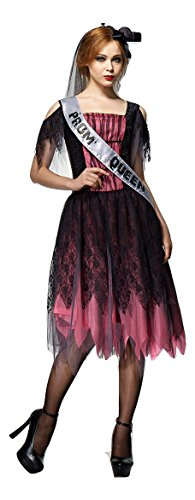 [Zombie Prom Queen Adult Size Halloween Costume (S/M)] (Zombie Queen Costumes)