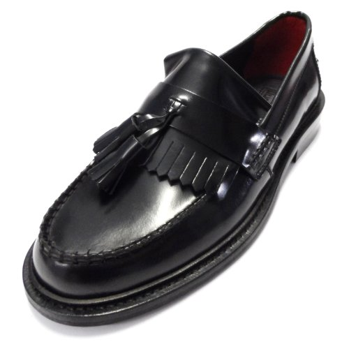 Delicious Junction Rudeboy Tassel Loafers Mod Shoes Black