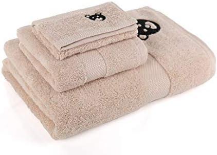 Hermoso Pack 3 Toallas algodón Color Beige 500 gsm: Amazon.es: Hogar