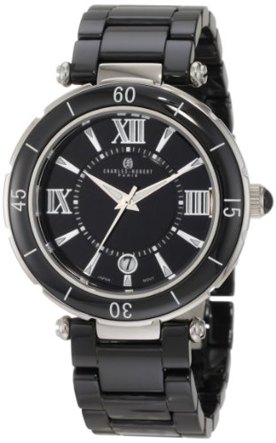 Charles-Hubert, Paris Men's 3879-B Premium Collection Black Ceramic Watch