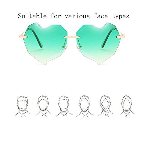 Gafas Retro ZYXCC Verde Gafas Blue Jacket para Color Love para Hombre y Sol Mujer Color Sol de de Color YANJING sin Mujer pink U0SRxnq6wS