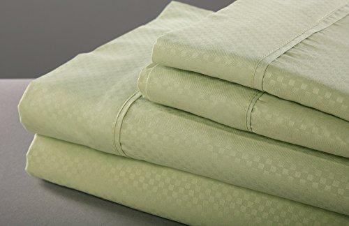 (Natalia Cavalletto Check 1800 Series 6 Piece Microfiber Bed Sheet Set, King,)