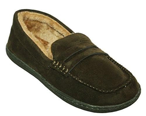 Hombre Zapatos Uk Zapatillas Talla Comodidad Forro Cálido Sintética Piel Invierno Con Tipo Ligero Mocasín 7 Para New nbsp; wqBCfw