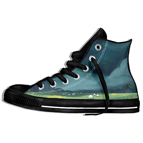 Classic Lace Up High Top Canvas Shoes Green Prairie Sneaker For Men Women