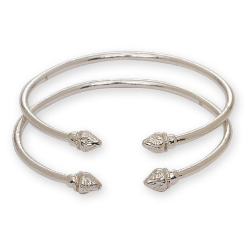 Elegant Pointed Sterling Silver Bangles product image