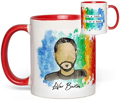 Reading Rainbow Mug (LeVar Burton) Quote Fan Gift]()