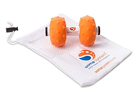 Soma System Portable Muscle Massage Roller [Soft]. Excellent Tool for Self-Myofascial Release, Deep Tissue, Trigger Point, and Physical Therapy, Neck and Back Pain Relief, Cross Fit, (Trigger Point Therapy Hand)