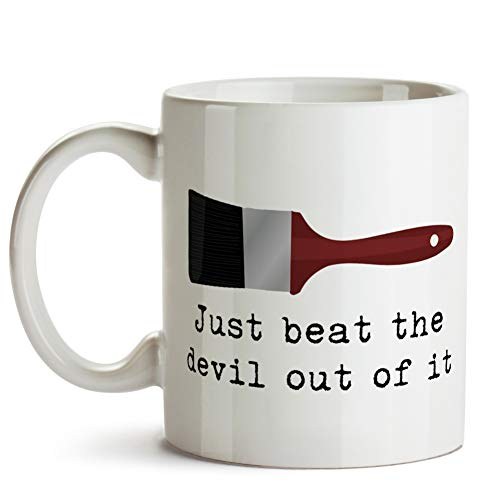 Just beat the devil out of it (Bob Ross inspired) Mug ()