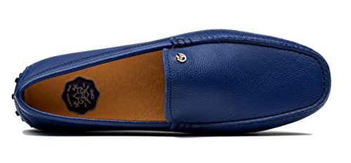 Opp Heren Klassieke Mode Slip-on Driving Toevallige Loafer Schoenen Instappers In Glad Leer 2016 Collectie Zwart